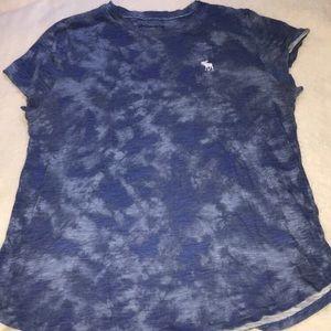 tie dye abercrombie tee shirt